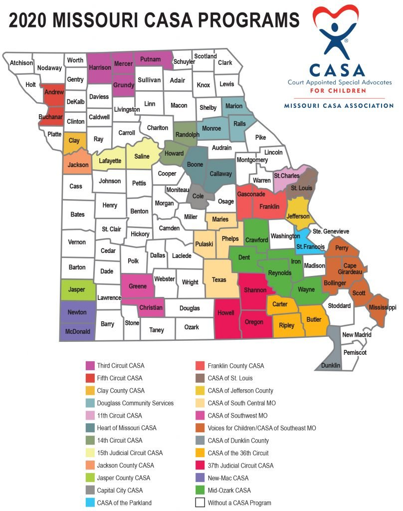 Missouri CASA map